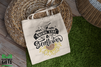 Shine Like A Sunflower Tote, Tote Bag, Gifts for Teachers, Canvas Totes, Personalized Totes, Custom Totes