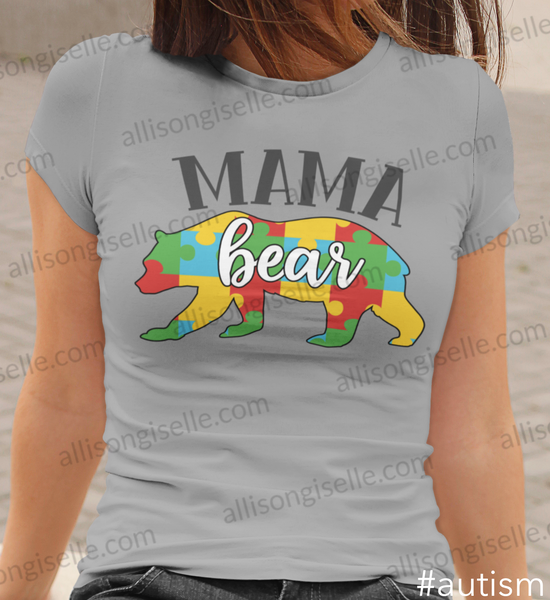 Mama Bear Autism Shirt, Adult Autism Awareness shirts, Autism Shirt Adult, Adult Autism Shirt, Autism Awareness Shirt Adult