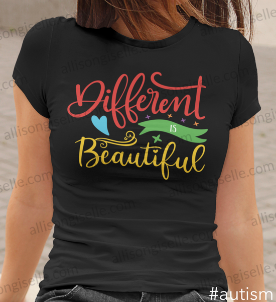 Different Is Beautiful Autism Shirt, Adult Autism Awareness shirts, Autism Shirt Adult, Adult Autism Shirt, Autism Awareness Shirt Adult