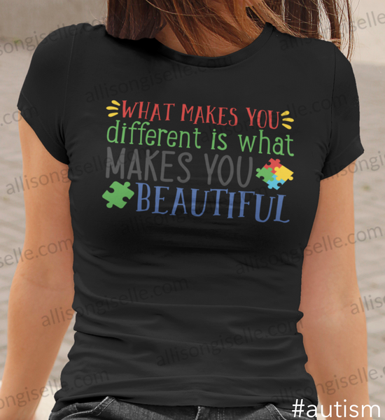 What Makes You Different Is What Makes You Beautiful Autism Shirt, Adult Autism Awareness shirts, Autism Shirt Adult, Adult Autism Shirt, Autism Awareness Shirt Adult