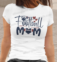 Football Mom Shirt, Football Shirt, Football Shirt Women, Crew Neck Women Shirt, Football t shirt, Football t shirt Women