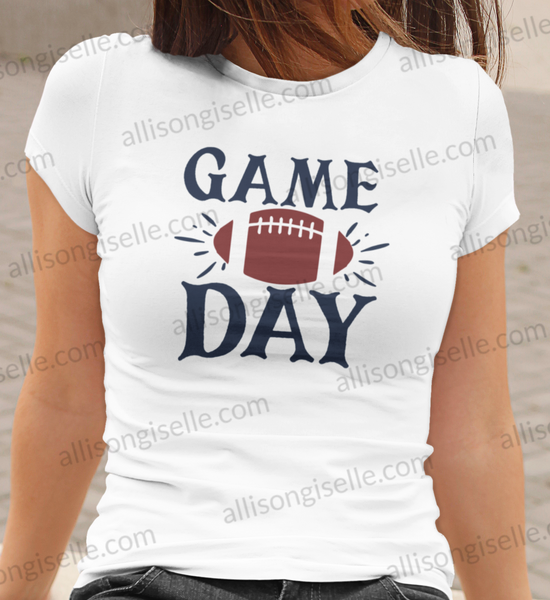 Game Day Football Shirt, Football Shirt, Football Shirt Women, Crew Neck Women Shirt, Football t shirt, Football t shirt Women