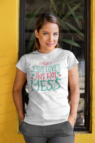 Jesus Loves This Hot Mess Shirts, Easter Teacher Shirts, Shirt For Teacher, Teacher Shirt, Teacher t shirt, Teacher Gifts, Gift For Teacher