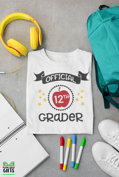 12th Grade First Day of School Shirt -First Day of School Shirt - Personalized 12th Grade Shirt - Back To School Shirt - Personalized 12th Grade t shirt