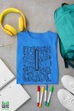 Typography Shirts-Grade Level Typography Shirts -First Day of School Shirt - Back To School Shirt - Personalized Typography Grade t shirt