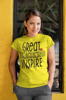 Great Teachers Inspire Shirts, Shirt For Teacher, Teacher Shirt, Teacher t shirt, Crew Neck Shirt, Teacher Gifts, Gift For Teacher
