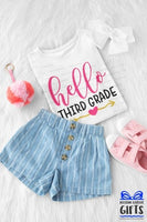 Hello 3rd Grade Shirt -3rd Grade Shirt - Personalized 3rd Grade Shirt - Back To School Shirt - Personalized 3rd Grade t shirt