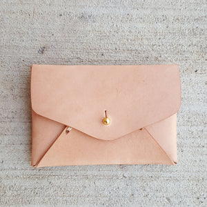 Leather Card Holder - Natural