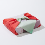 Small Reusable Gift Wrap - Sweet Mint Print