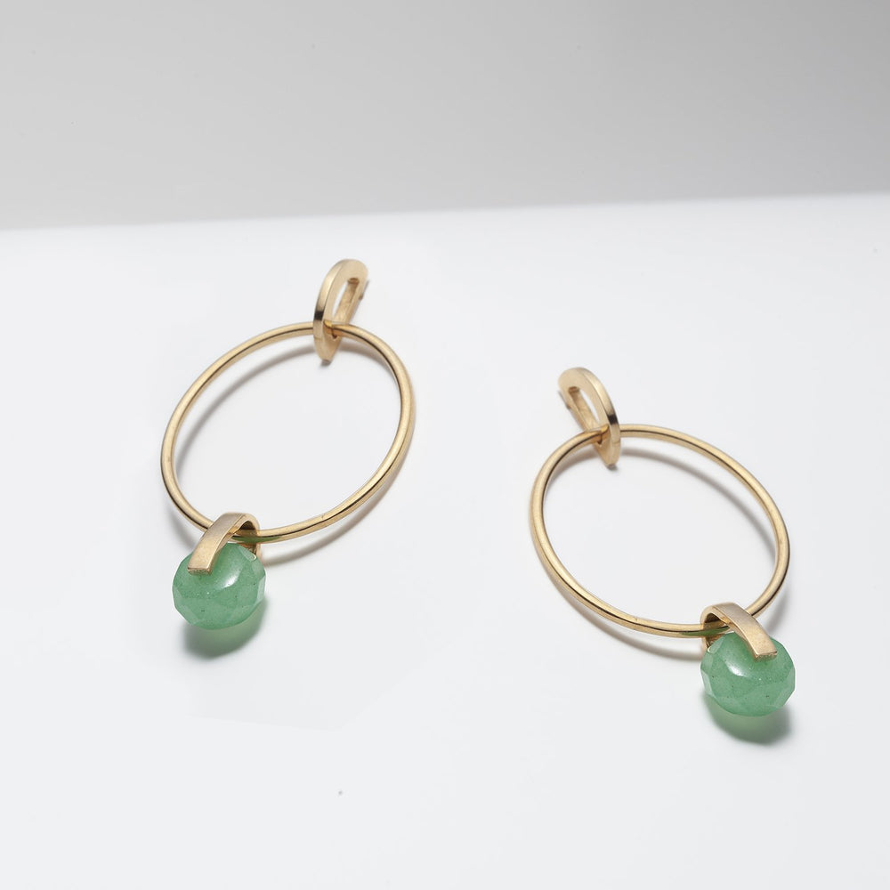 Ara Green Aventurine Earrings