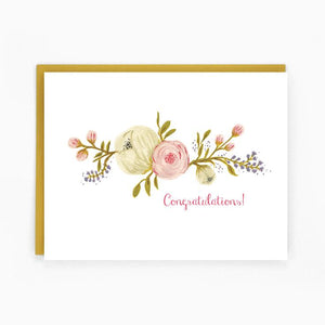 Congratulation Blooms Card