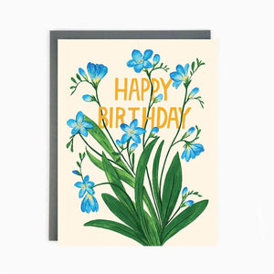 Birthday Freesia Card