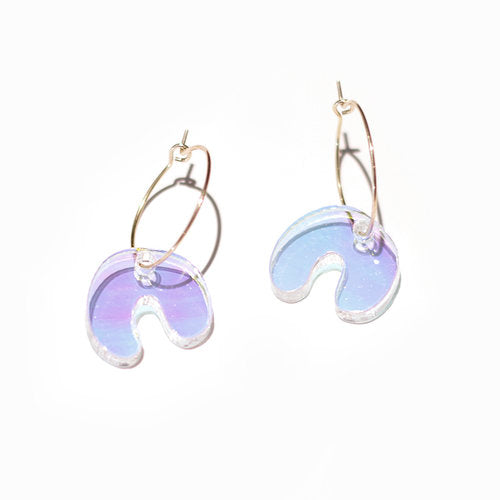 Amoeba Hoop Earrings
