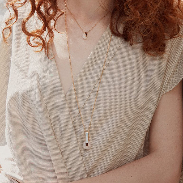 Phoebe Rose Quartz Necklace