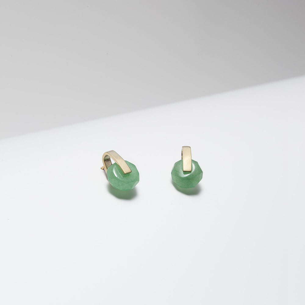 Selene Green Aventurine Earrings