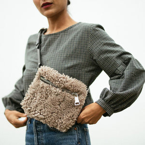 Load image into Gallery viewer, Mushroom Shearling Fanny Pack