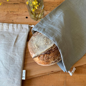 Load image into Gallery viewer, Linen Bread Bag