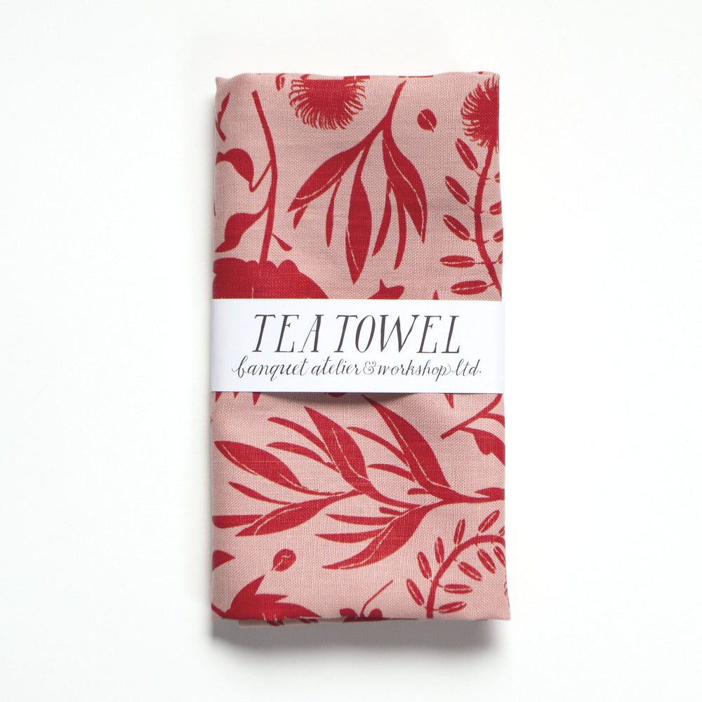 Tropical Flowers Tea Towel