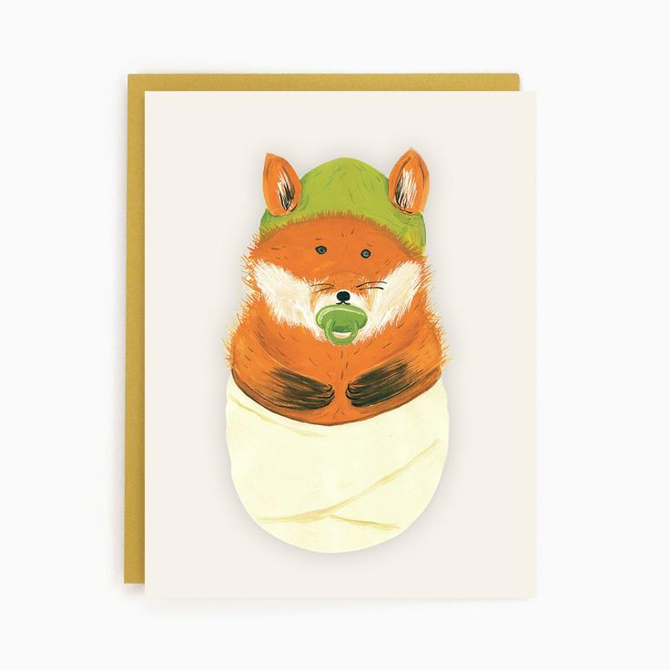 Load image into Gallery viewer, Baby Fox Card
