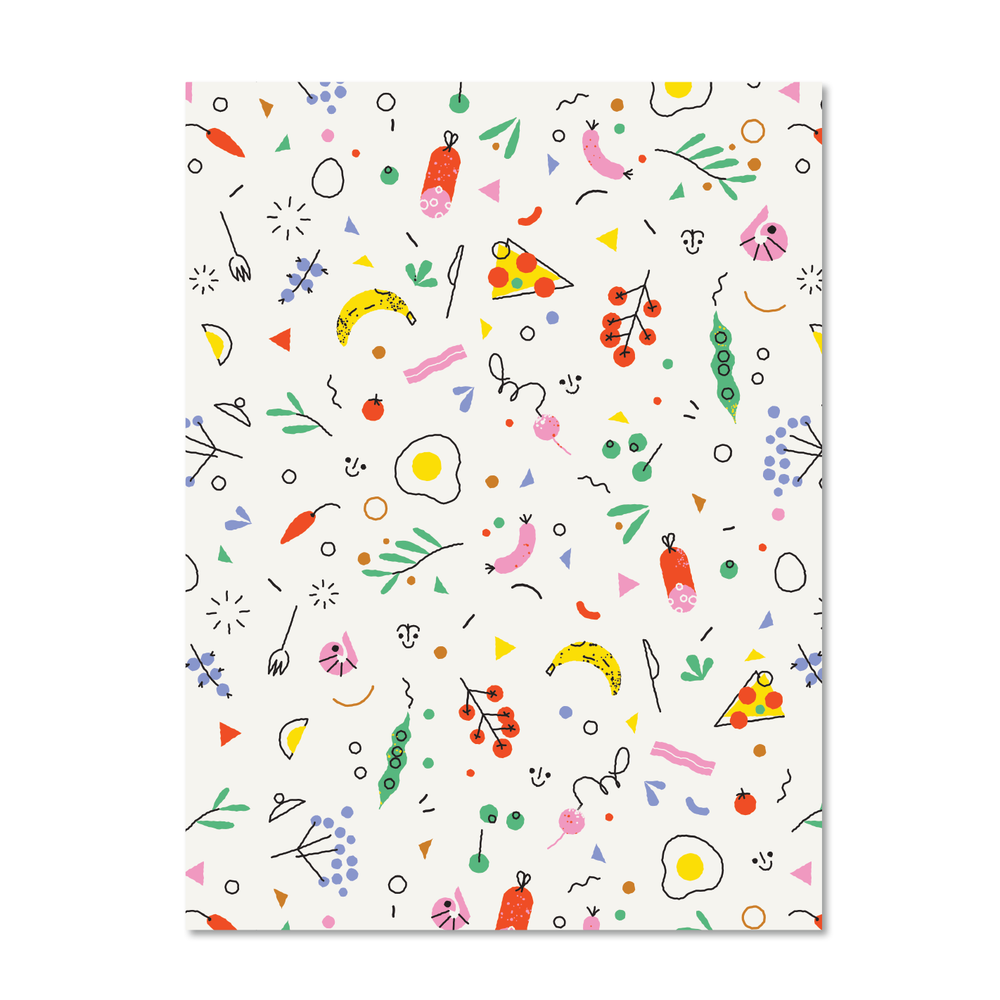 Snacks Print Notebook