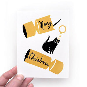 Christmas Cracker Cat Card
