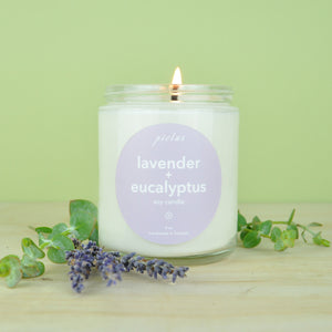Load image into Gallery viewer, Lavender + Eucalyptus Candle