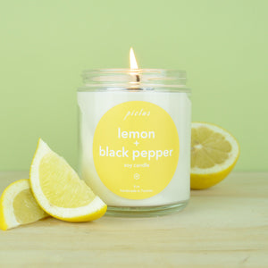 Load image into Gallery viewer, Lemon + Black Pepper Candle