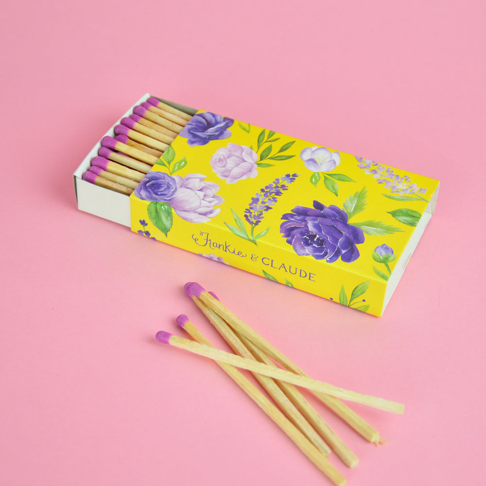 Colourful Floral Match Box