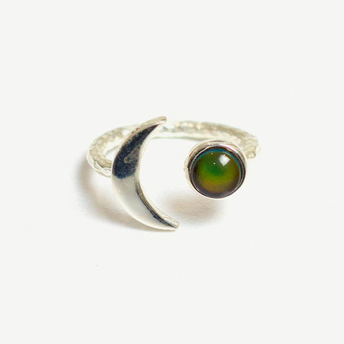 Crescent Moon Mood Ring