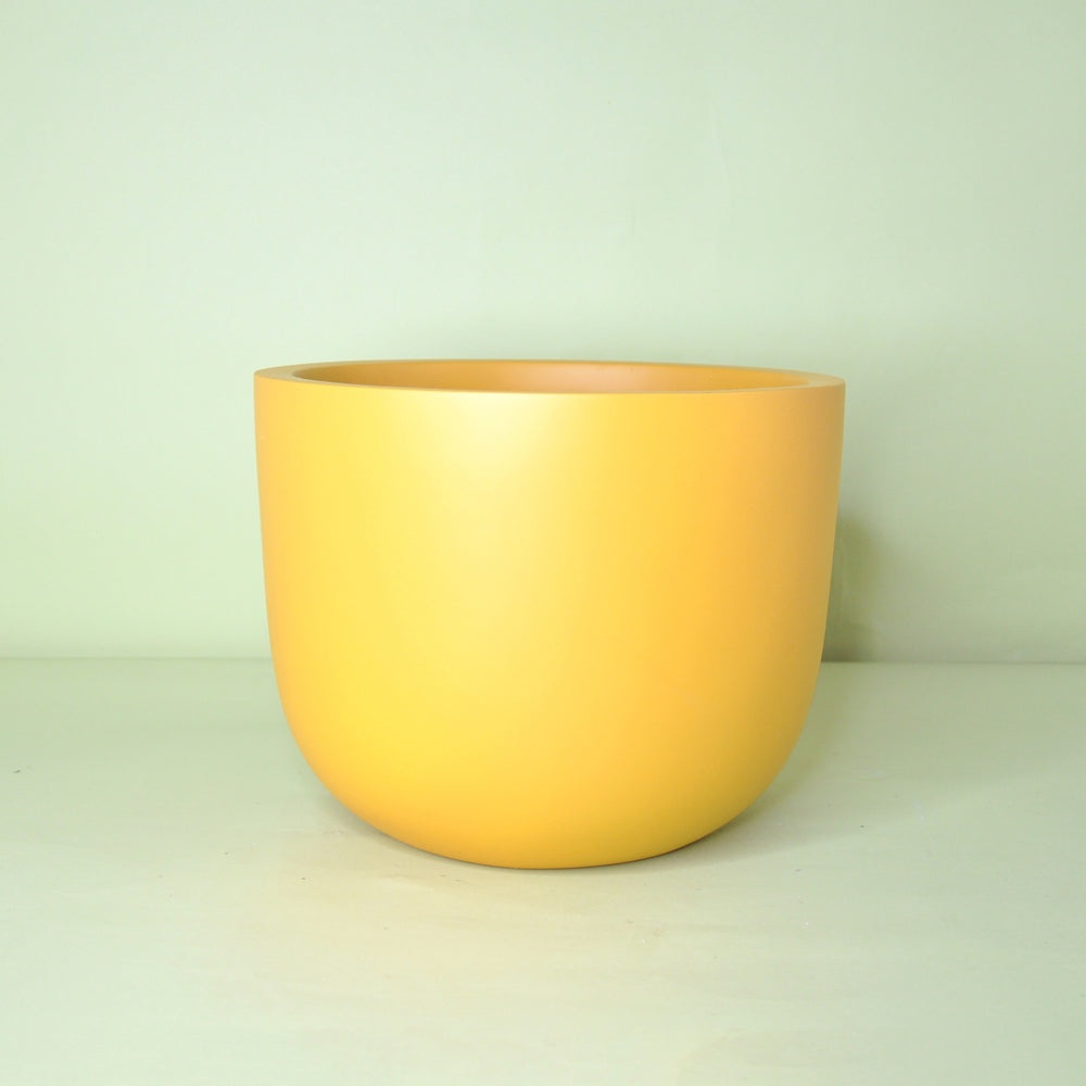 Load image into Gallery viewer, Large Hunny Mustard Round Planter