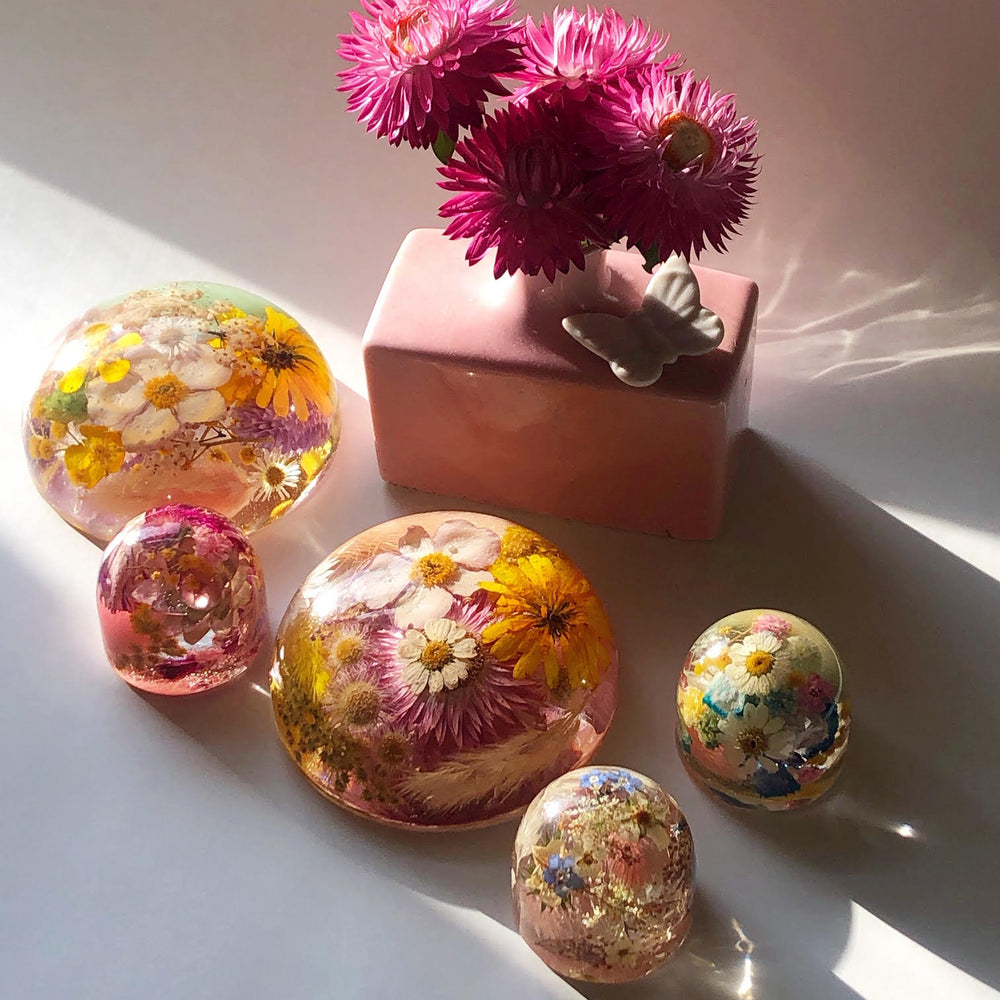 Small Floral Paperweight