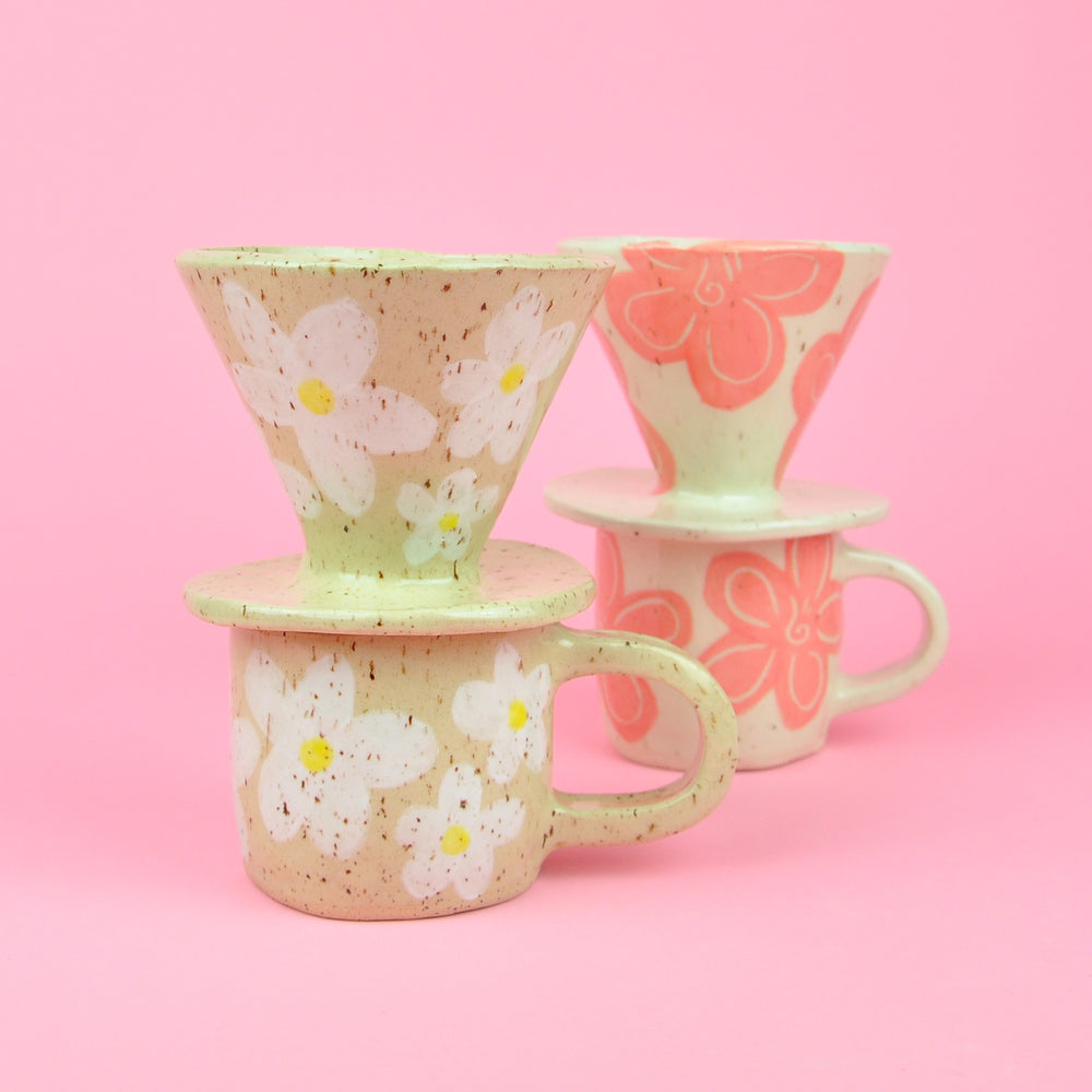 Flower Pour Over + Mug Set