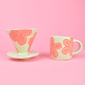 Load image into Gallery viewer, Flower Pour Over + Mug Set