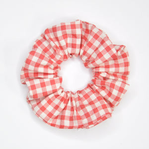 Red Gingham Scrunchie