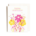 Flower Bunch Birthday Card