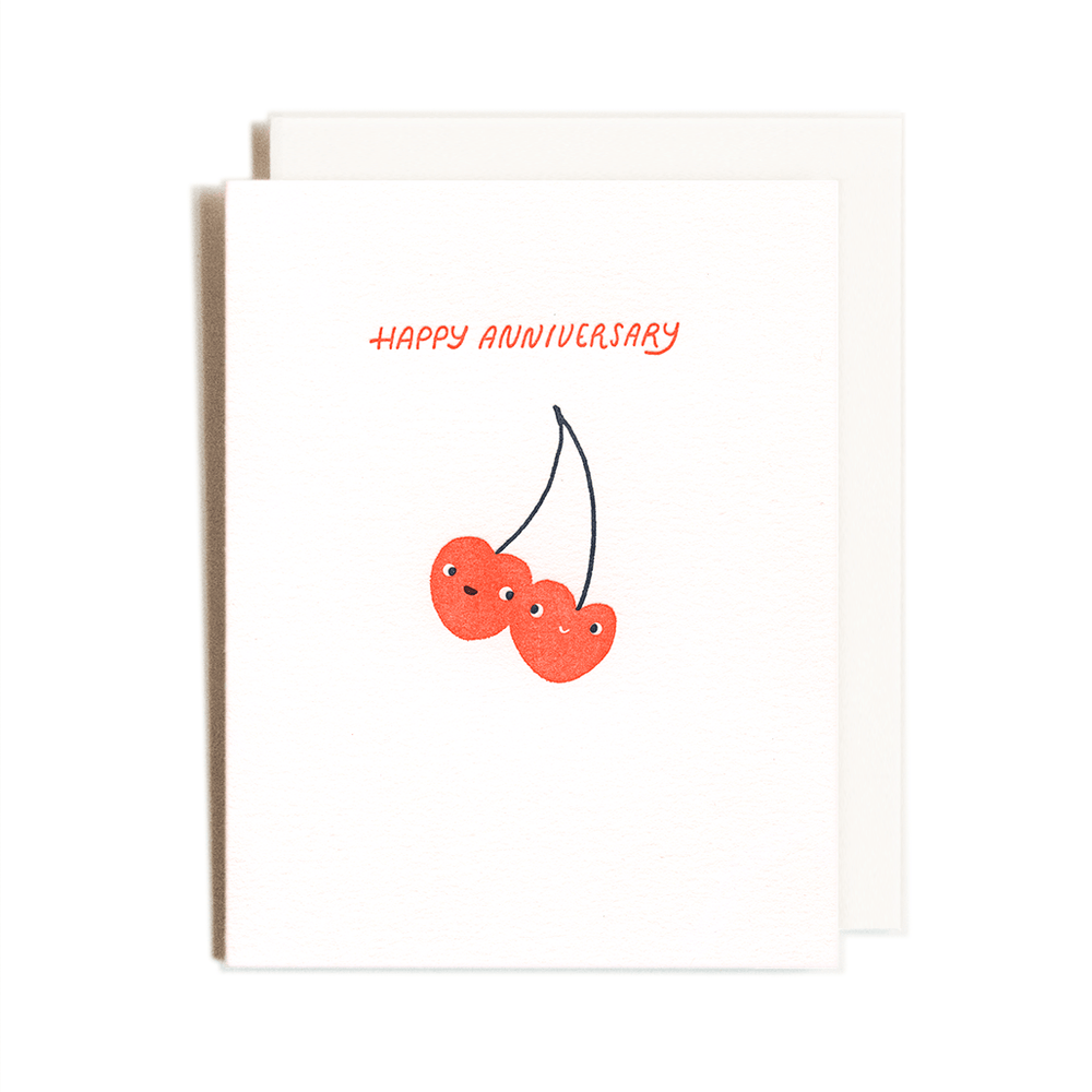 Anniversary Cherries Card