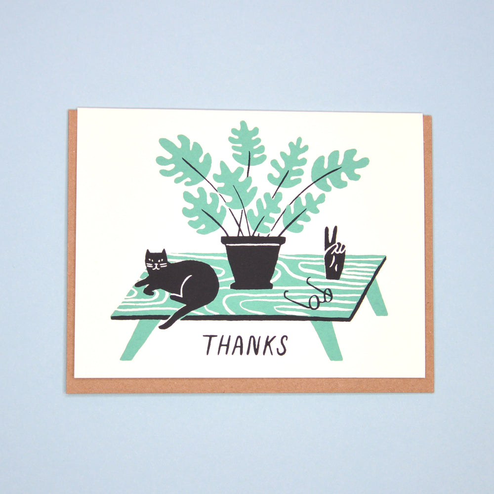 Thanks Cat Card