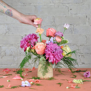 Online Flower Arranging Workshop - Handmade Ceramic Vase