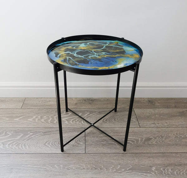 PRE ORDER - Dragon Flame Resin Side Table