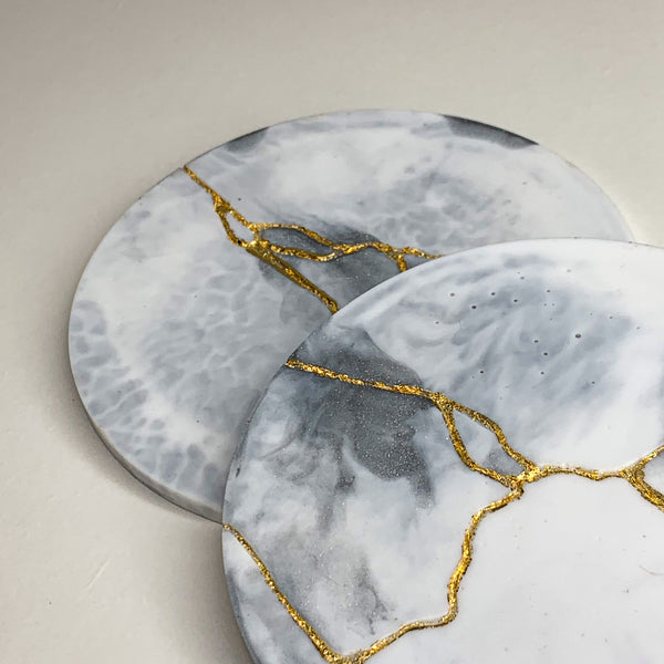 LIMITED EDITION - Set of 2 Kintsugi coasters
