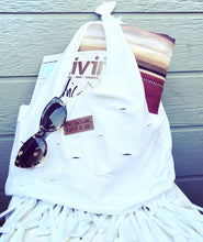 Load image into Gallery viewer, The White Fringe Bag