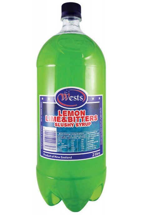 Wests 2lt Slushy Syrup - Lemon Lime Bitters x 6
