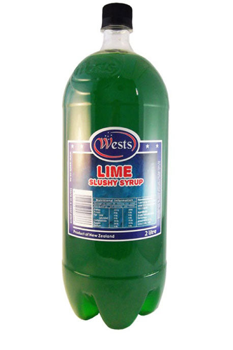 Wests 2lt Slushy Syrup - Lime x 6