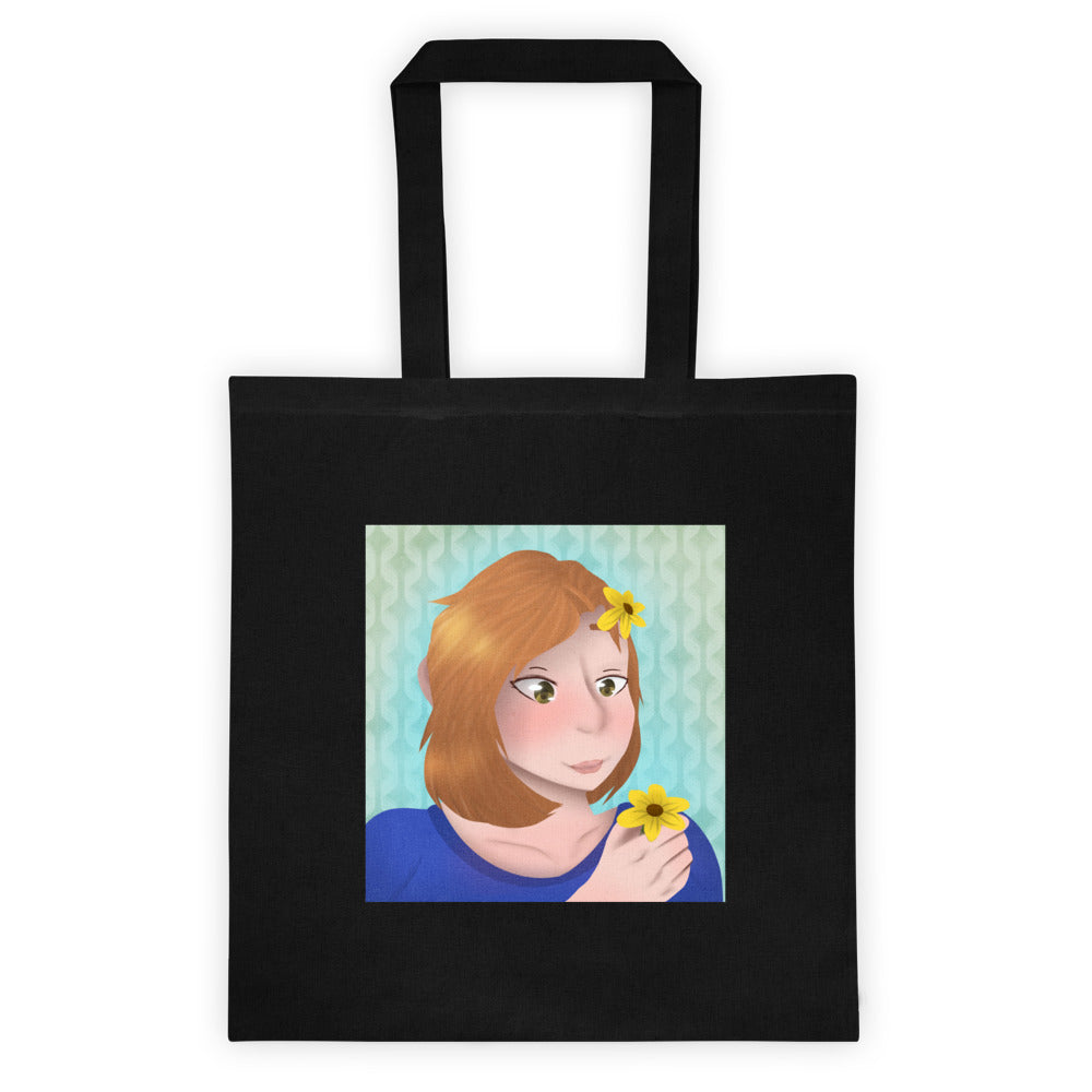 Woman with Flower Tote bag