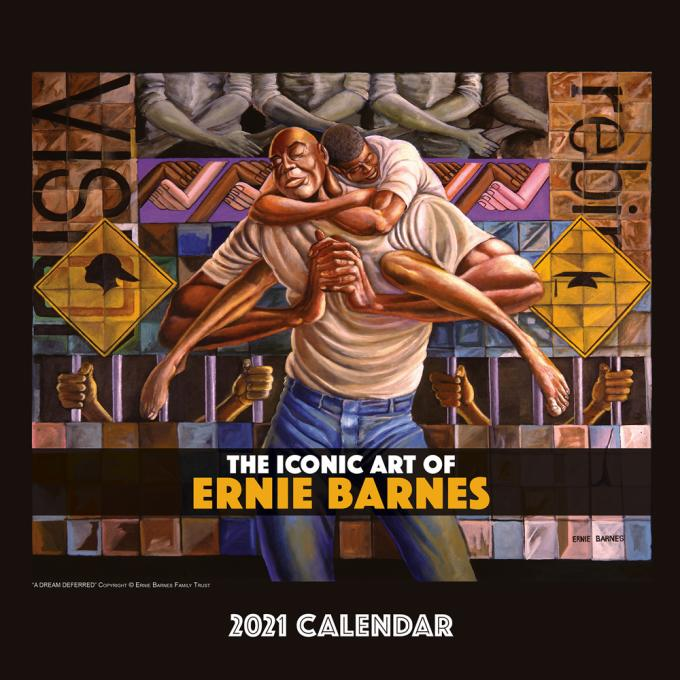 THE ICONIC ART OF ERNIE BARNES 2021 WALL CALENDAR