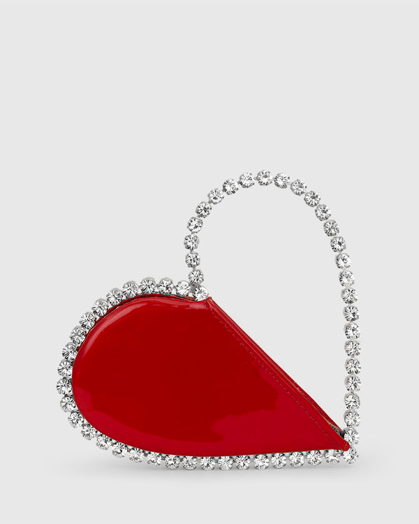 L'alingi London Red Patent Love Luxury Clutch