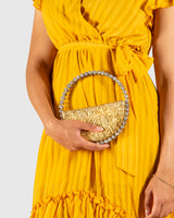 L'alingi London Gold Metallic Eternity Luxury Clutch