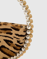 L'alingi London Eternity Leopard Print Luxury Clutch with Swarovski stones
