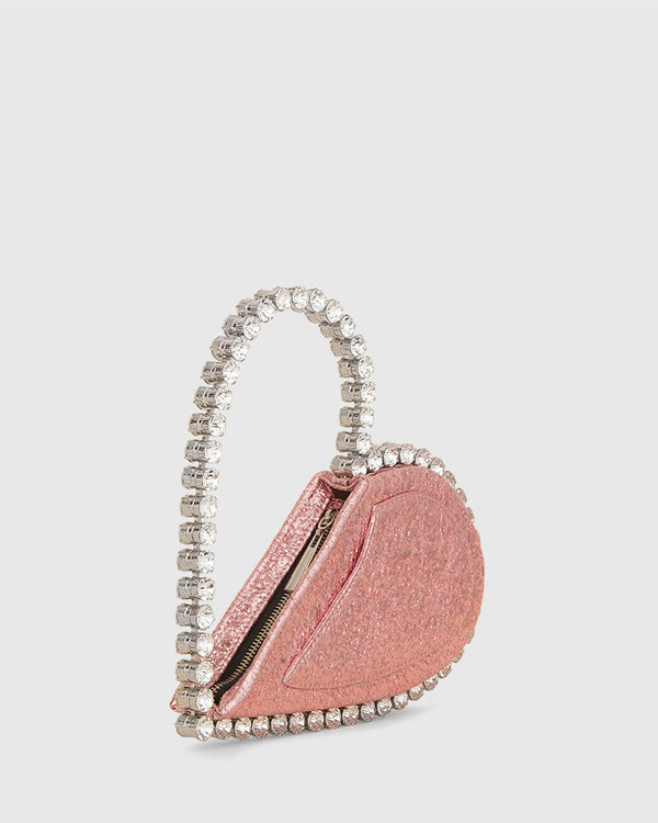 L'alingi London Pink Metallic Love Luxury Clutch
