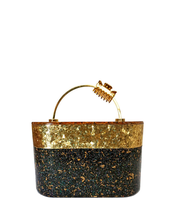 L'alingi London Trunk Gold Luxury Clutch
